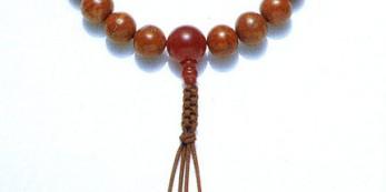 鳳眼菩提珠 片手 紐 瑪瑙仕立